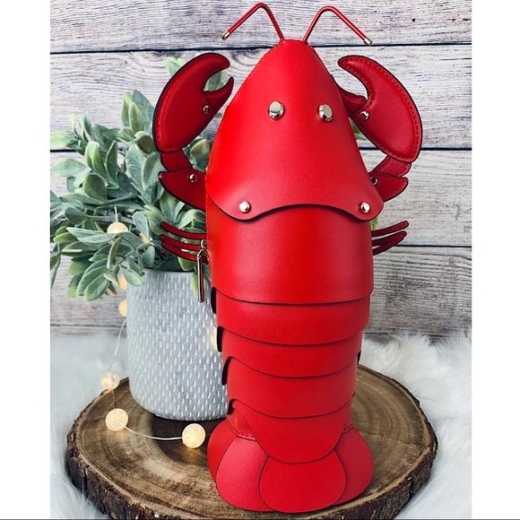 Kate Spade Love Shack Lobster Crossbody Clutch 🦞